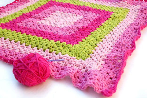 Crocheted Granny Blanket | Crochet | Pinterest | Frazada, Manta y Tejido