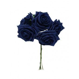 Bunch Rose 5 Heads Navy