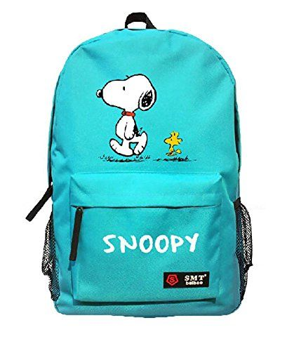26d29e948de22c Creative Anime Snoopy Unisex Cavans Student s School Bag Backpacks Leisure  Bag Shoulder Backpack (blue)