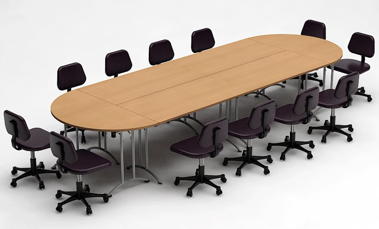 Meeting Seminar 6 Piece Racetrack Oval 30 H X 60 W X 180 L Conference Table Set Conference Table Table Round Conference Table
