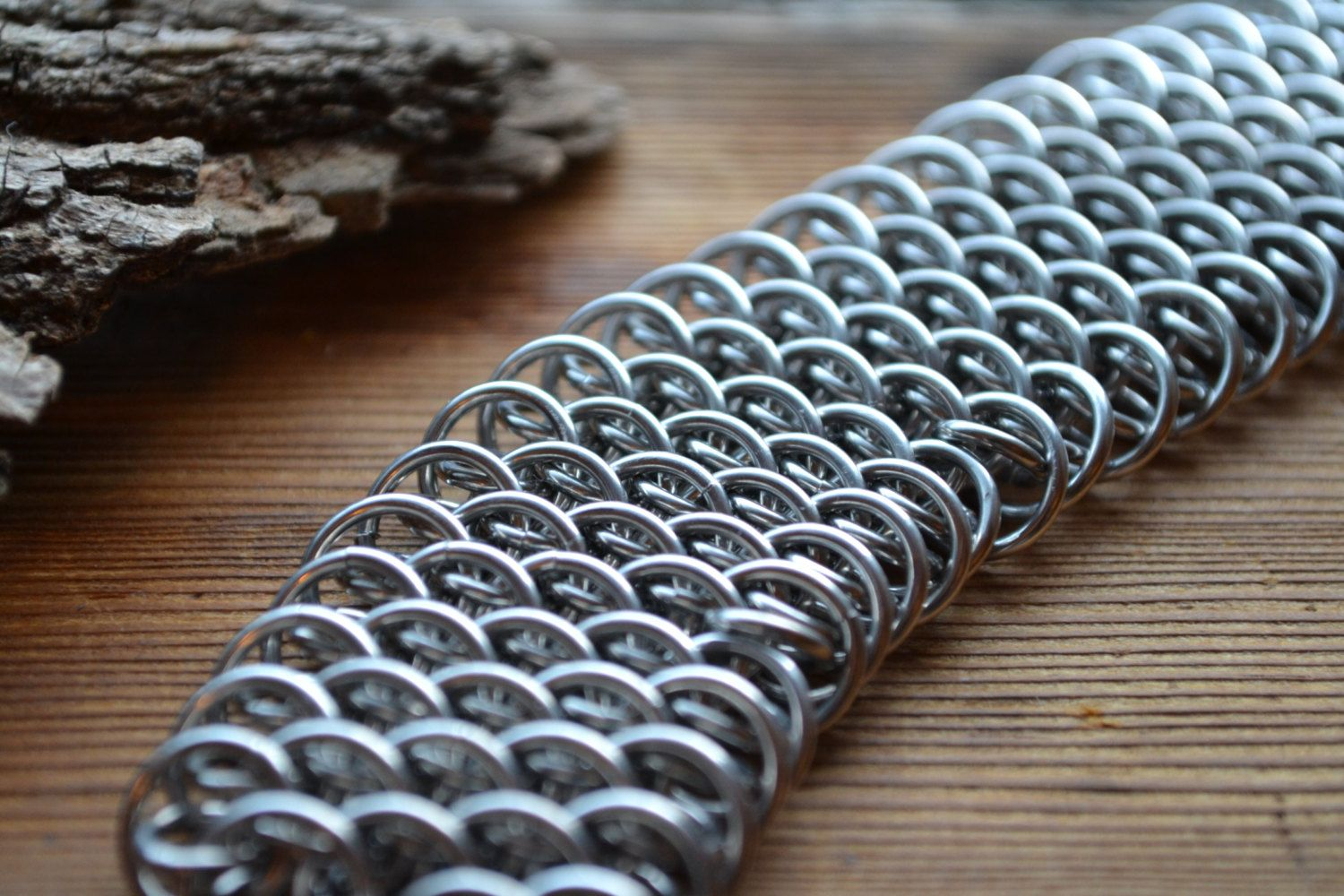New to AthenasArmoury on Etsy: Dragonscale Chain Maille Bracelet - Fantasy Industrial Renaissance LARP Cosplay (49.00 USD)