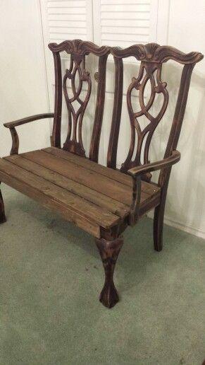 bank aus alten st hlen m bel aufarbeiten pinterest alte st hle b nke und stuhl. Black Bedroom Furniture Sets. Home Design Ideas