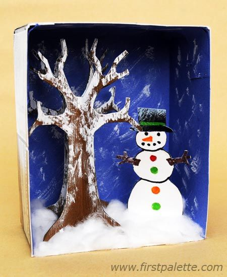 Image result for 3d winter art kids