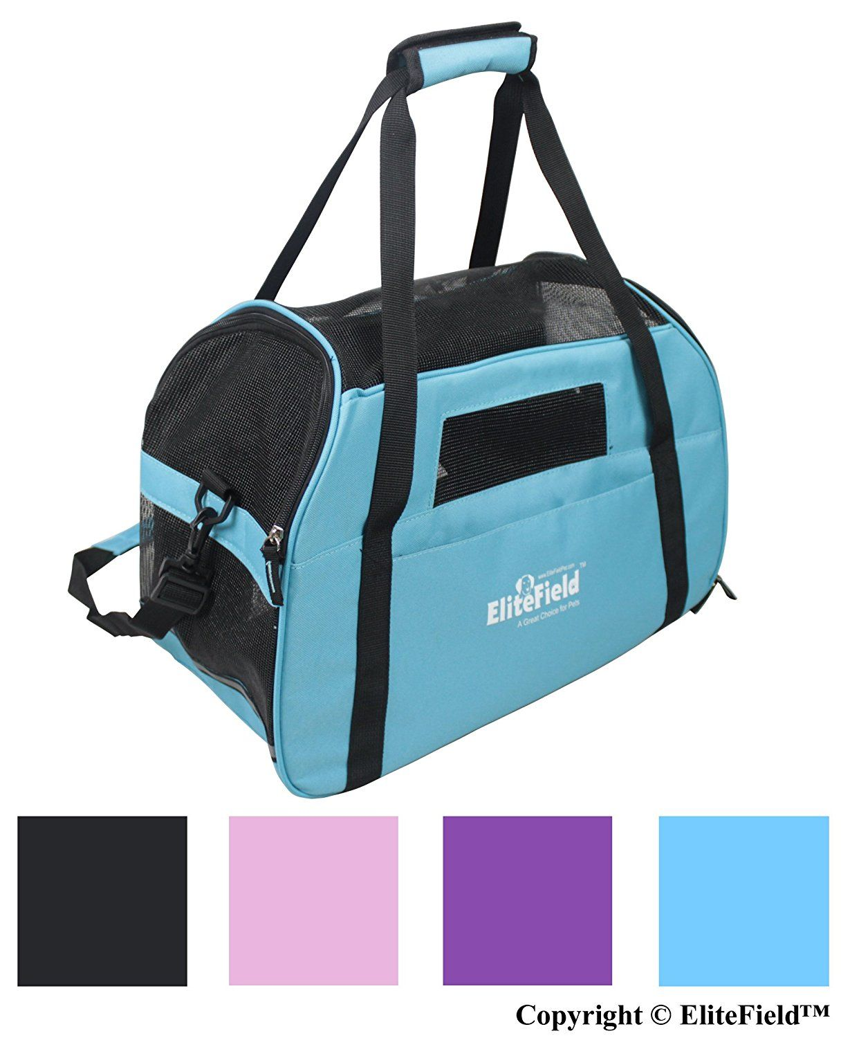 EliteField Soft Sided Pet Carrier (3 Year Warranty, Airline Approved ...