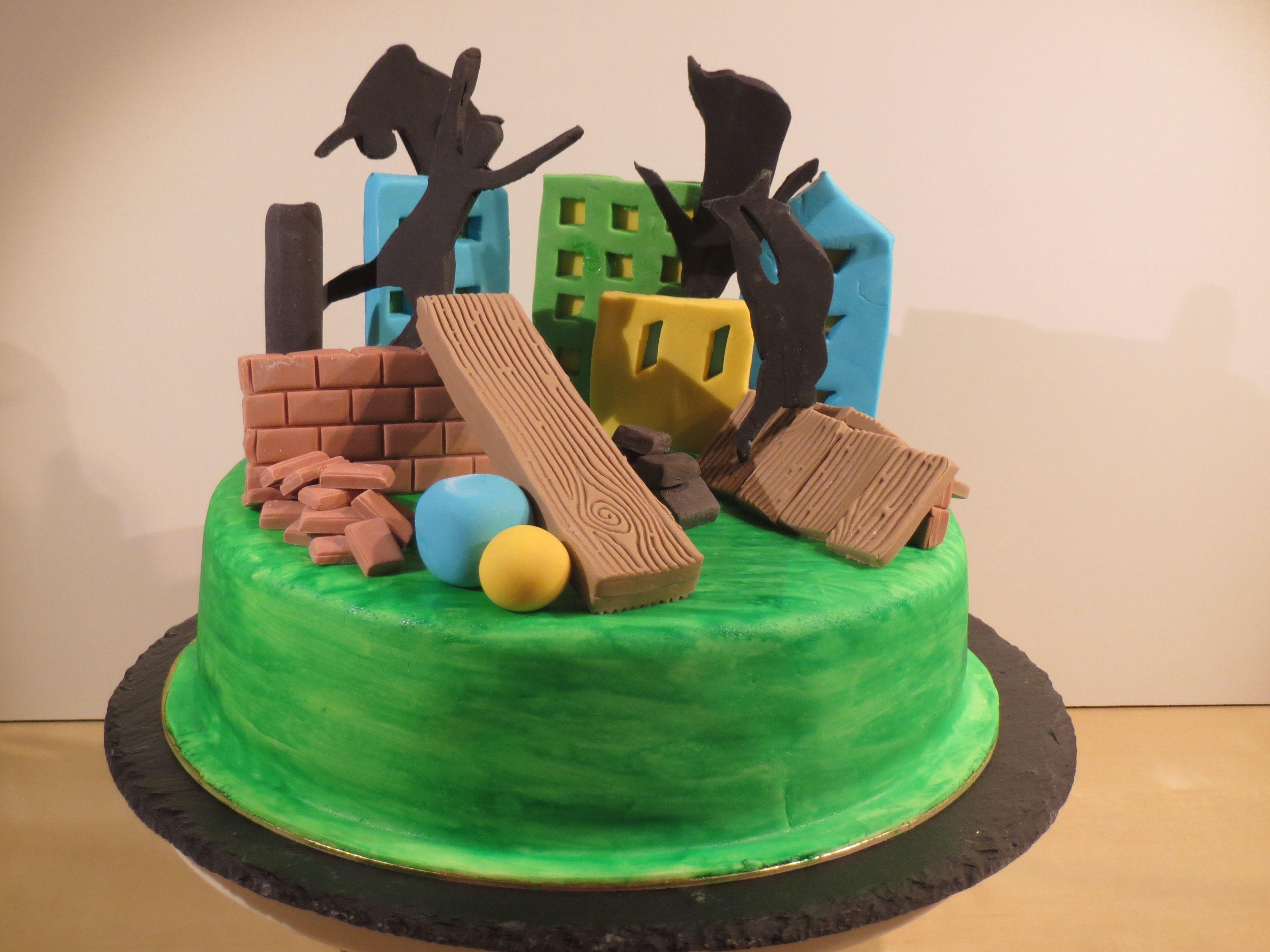 Parkour / Freerunning cake   Ninja Birthday in 2019 ...