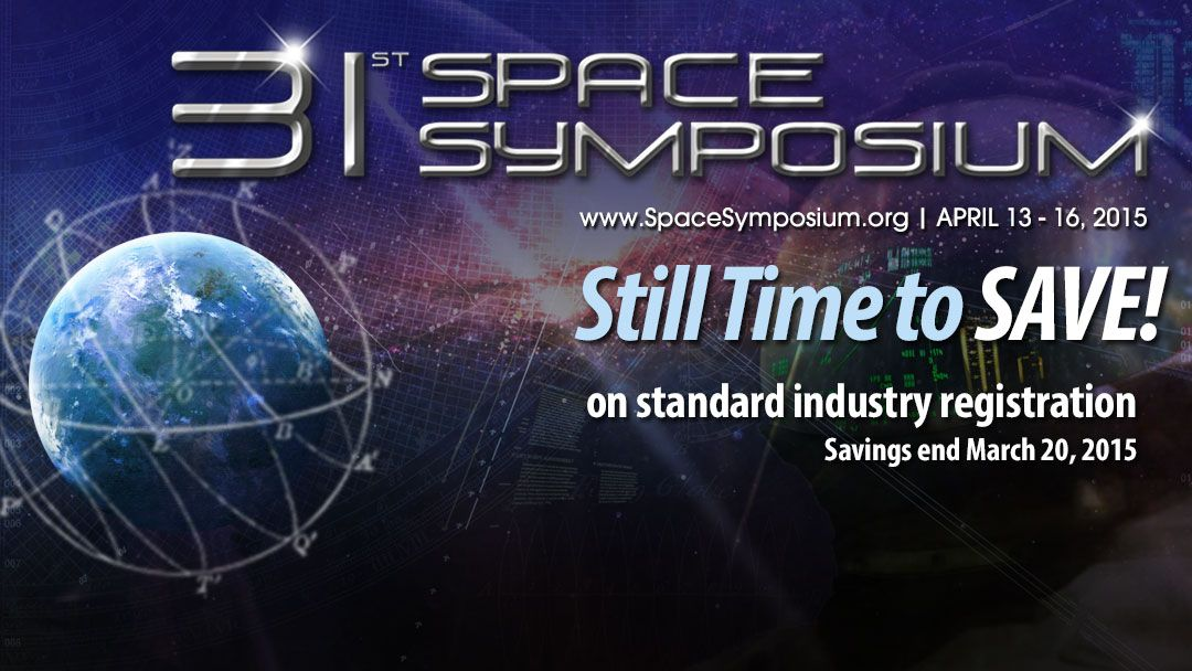 Register today before the standard industry registration price increase! spacesymposium.org