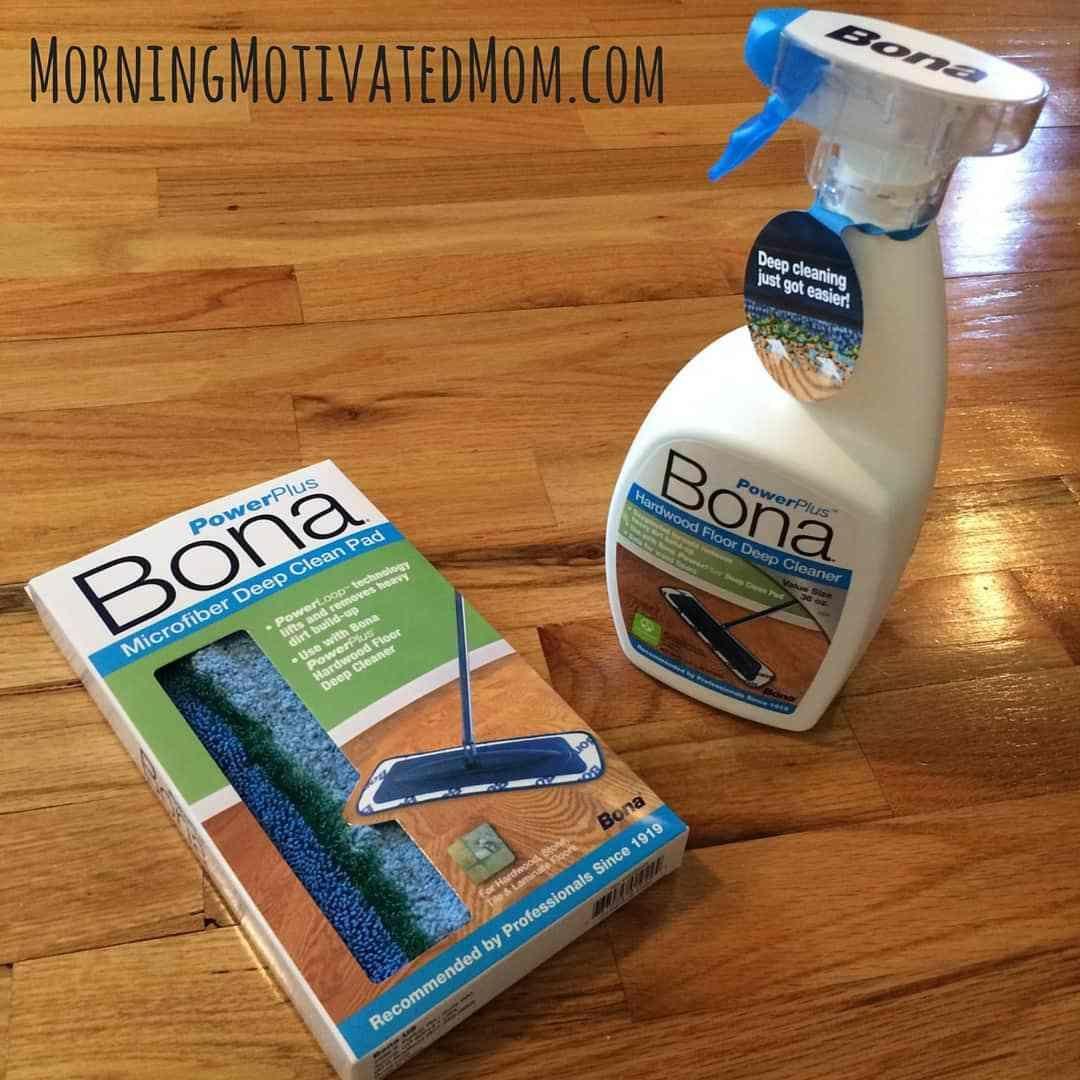 How To Clean Your Hardwood Floors With The Bona Powerplus System Morning Motivated Mom Cleaning Floor Cleaner Floor Cleaning Hacks
