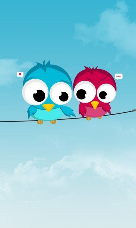 Hd Cute Birds Love Cell Phone Wallpapers