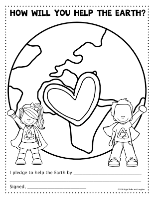 How will you help the Earth? Download this FREE printable