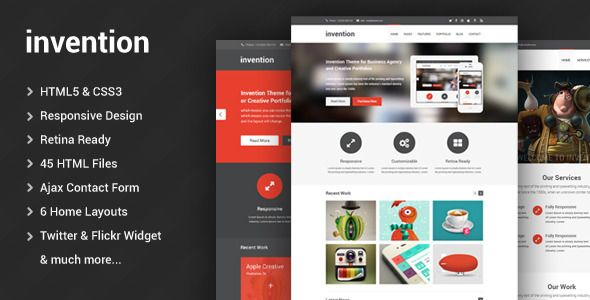 Invention responsive html5 template template flat design and ui invention responsive html5 template business corporate maybe for dorothy flashek Image collections