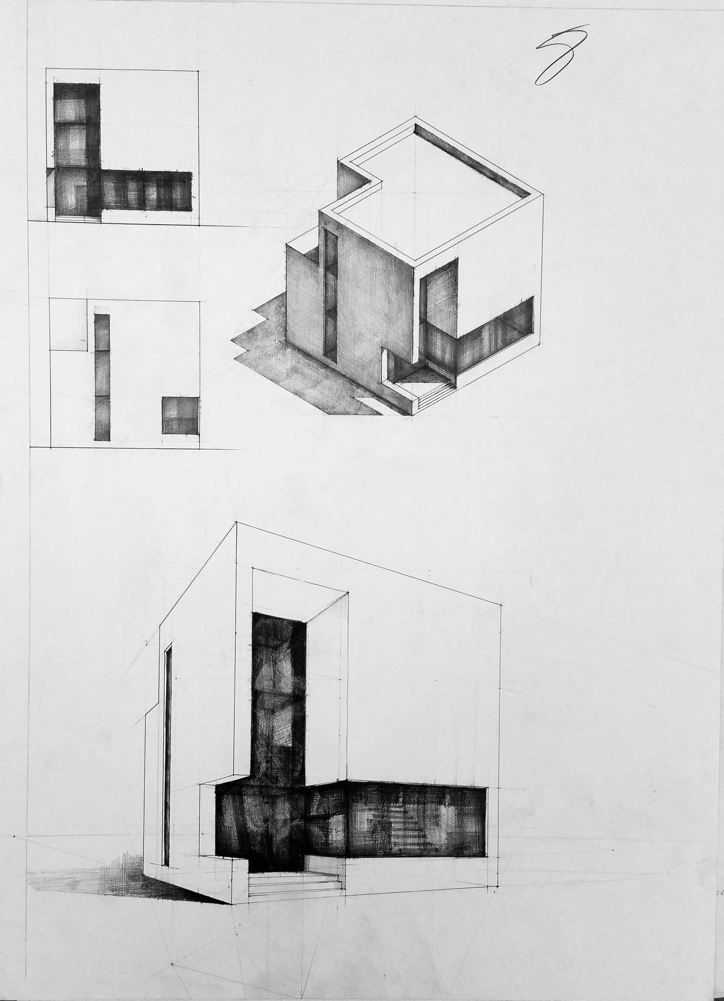 Home Design Architectural Drawing In 2020 Architecture Design Sketch Architecture Sketch Architecture Drawing