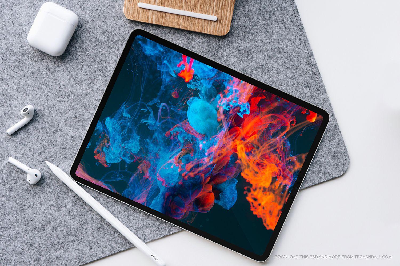 Apple Ipad Pro 2018 Mockup Ipad Pro Ipad Pro 2018 Apple Ipad Pro