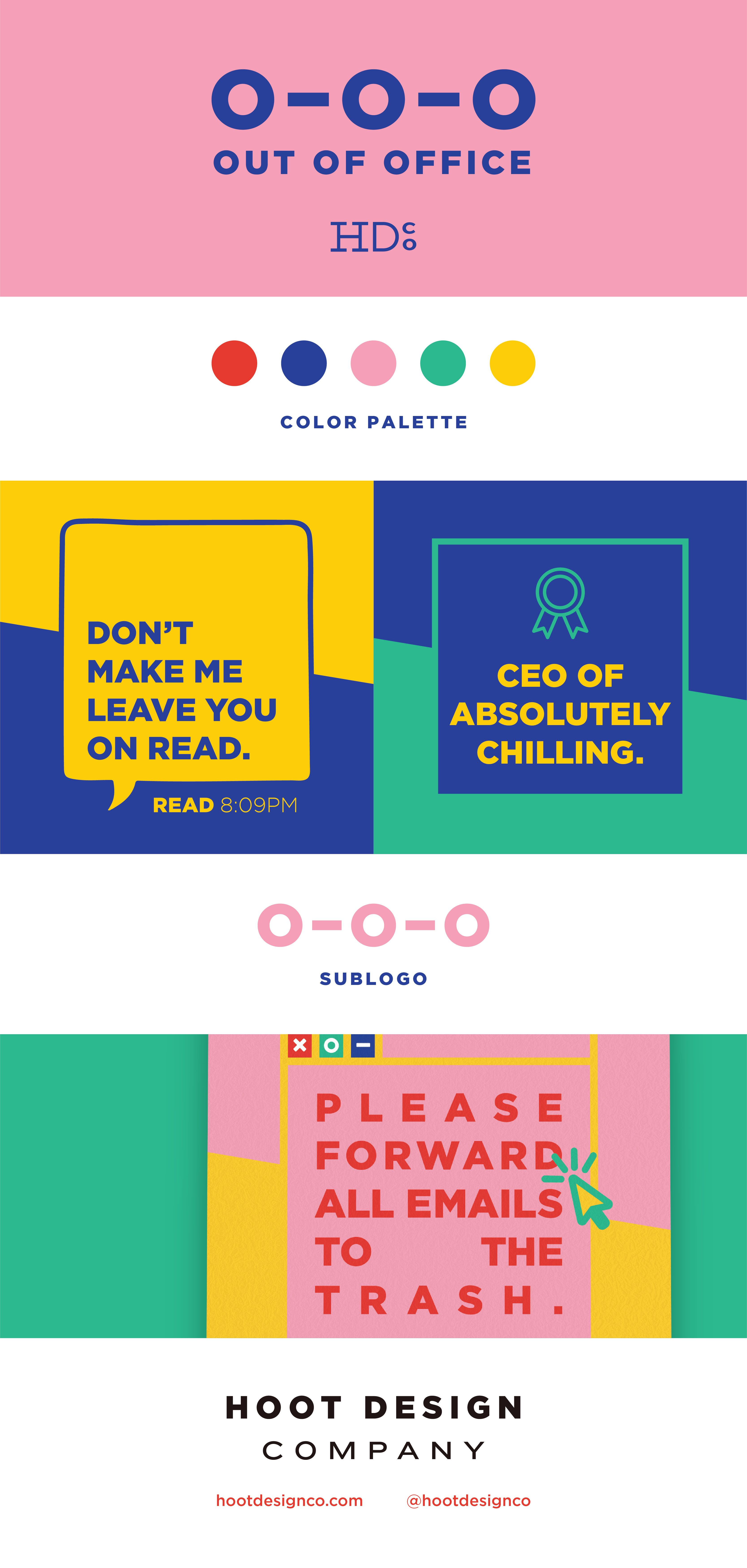 For our 2019 retreat, we went all out on taking a look inward. As a branding agency, of course we needed a brand to show how serious we were. Since we would be tapping into our foundational values, we took this color palette back to bright basics and sprinkled in some badass copy. We have a brand that makes us excited to clock out and lets all of our clients know that this Friday is for the gals.