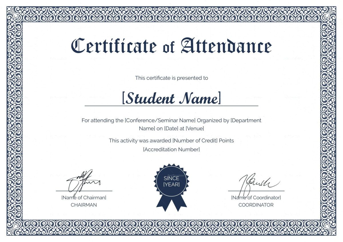 Rotary Club Certificate Template Bestawnings Pertaining To Certificate Of Attendance Conferen Student Attendance Attendance Certificate Certificate Templates Rotary certificate of appreciation template