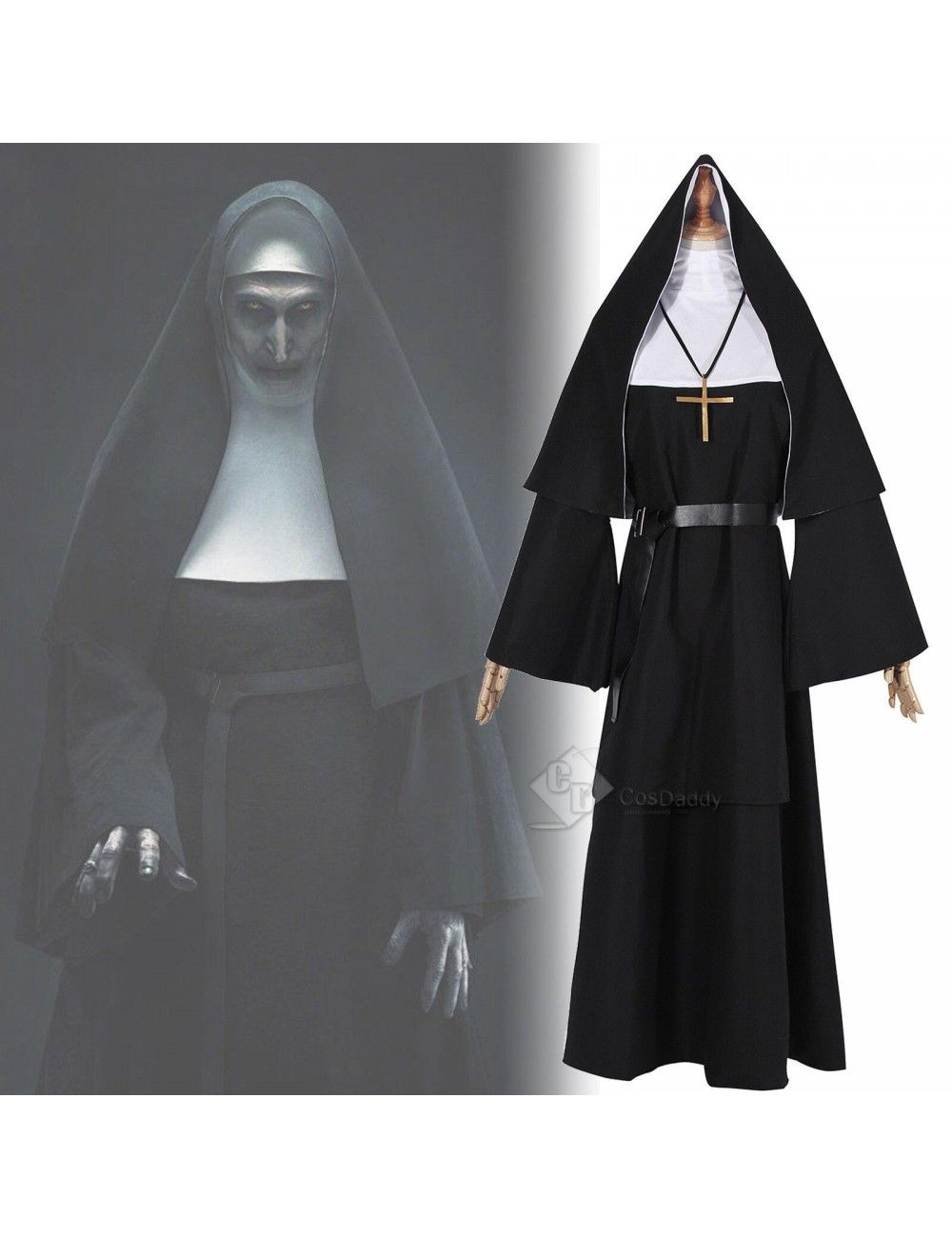 The Conjuring The Nun Valak Sister Cosplay Costume Halloween