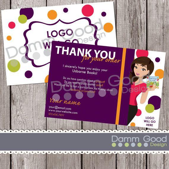 Usborne Thank You Card, Digital Thank You Card, Usborne Marketing