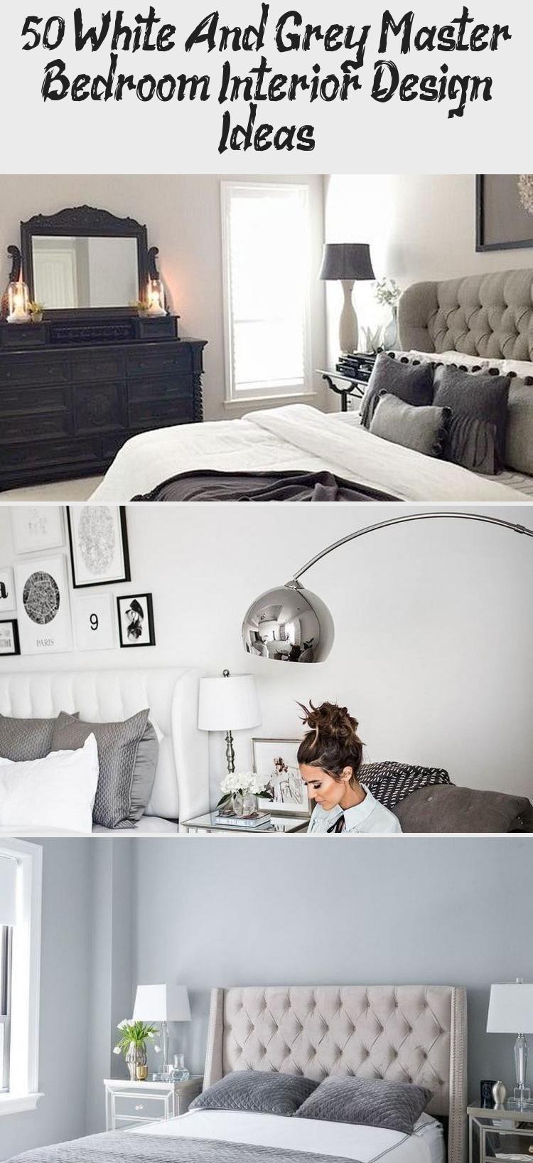 50+ White And Grey Master Bedroom Interior Design Ideas - Galafashion, Street St...#bedroom #design #galafashion #grey #ideas #interior #master #street #white