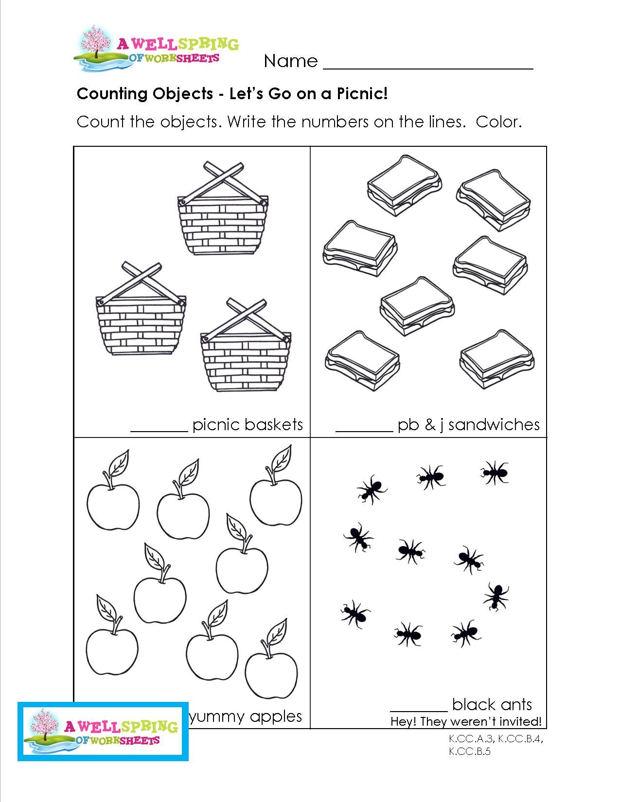 Counting Objects up to 10 This set of 9 creative worksheets has