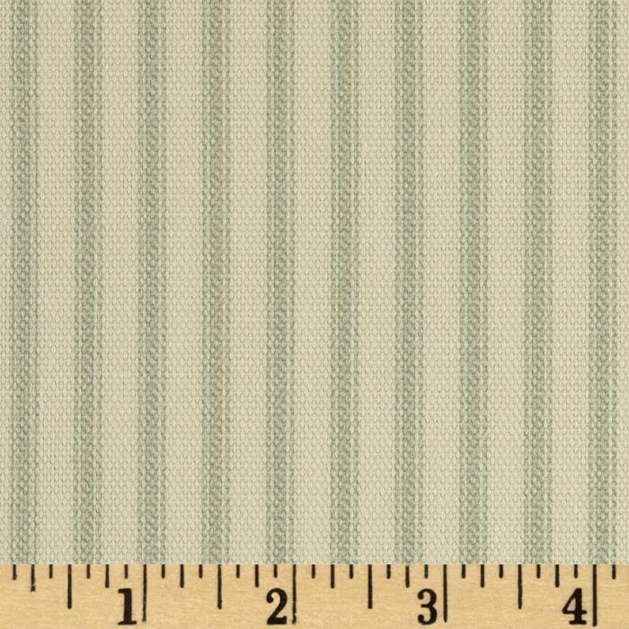 Vertical Ticking Stripe Sage Ticking Stripe Upholstery Fabric Gingham Curtains