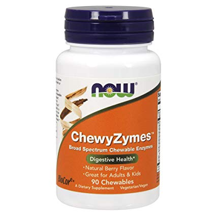 NOW Supplements, ChewyZymes, Broad Spectrum