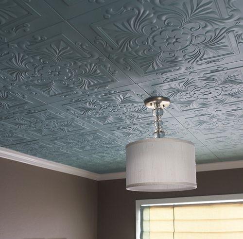 Polystyrene Foam Ceiling Tiles Covering Popcorn Ceiling Decor