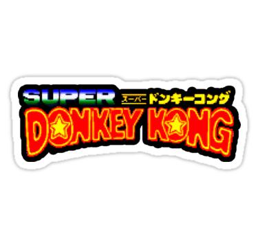 Super Donkey Kong Japanese Donkey Kong Country Sticker Retro Nintendo Sticker Retro Logos Donkey Kong Retro