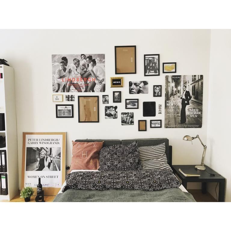 Stylisches Schlafzimmer mit Photowand. #Schlafzimmer #Einrichtung ...