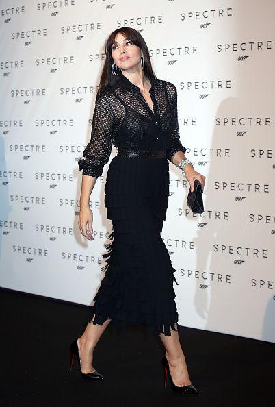 Monica Bellucci attend a red carpet premiere for 'Spectre' at Auditorium Della Conciliazione  in Rome, Italy on (October 27, 2015)