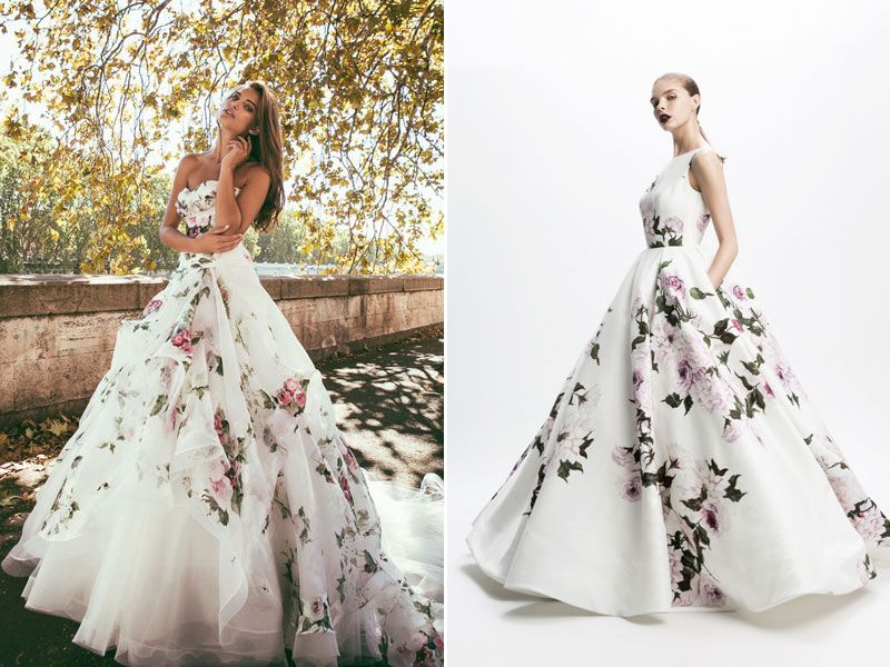Blooming Trend! 25 Dreamy Wedding Dresses With Romantic Floral ...