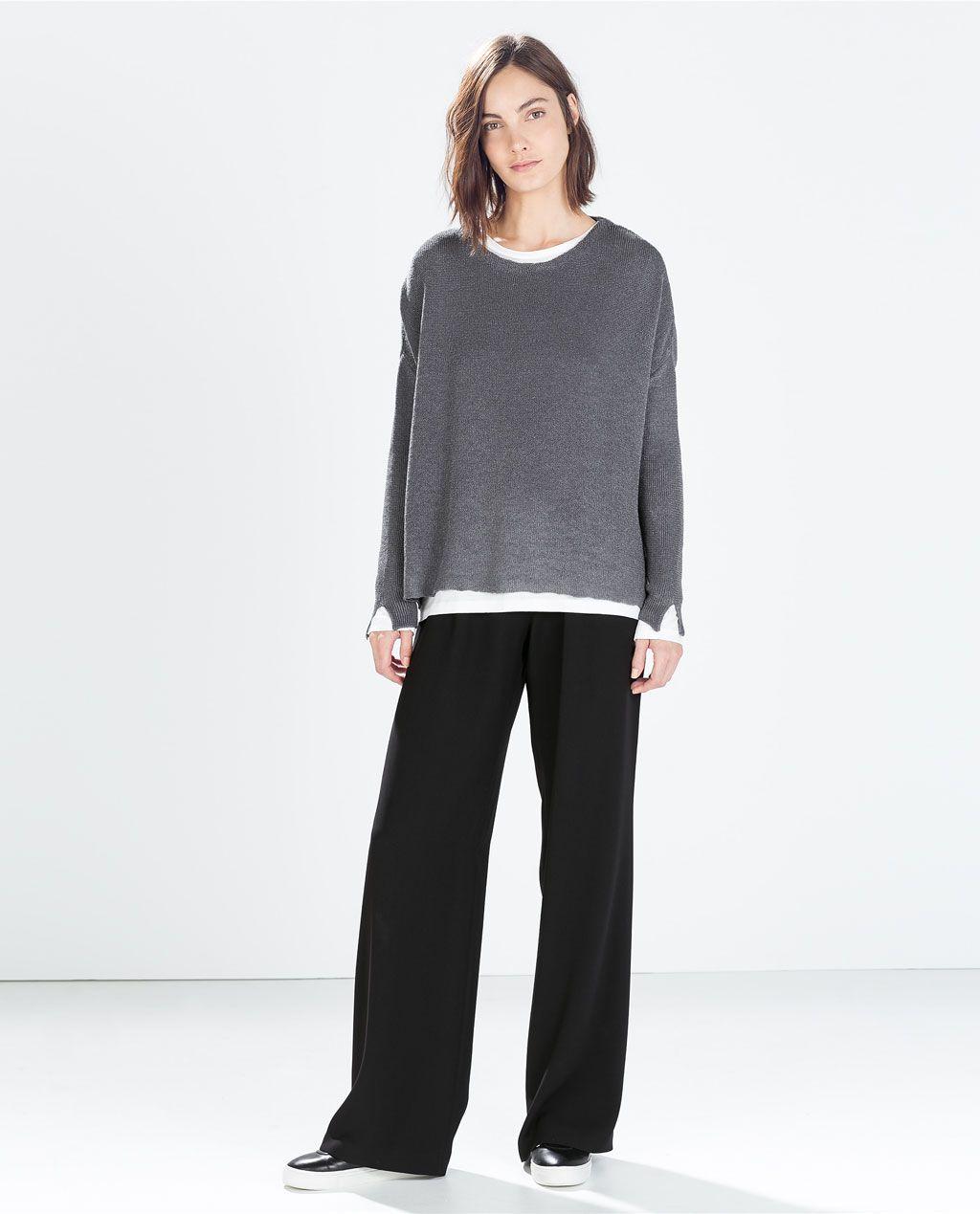 d89604242f35 Imagem 1 de CAMISOLA DECOTE À BARCO da Zara | moda para usar ...