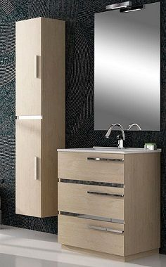 Muebles columnas de ba o armarios de ba o 2 puertas for Armarios de cuarto de bano para colgar