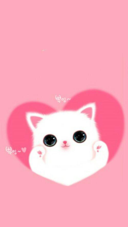 Wallpaper By Artist Unknown Cute Wallpapers Cute Animal Drawings Kitten Wallpaper