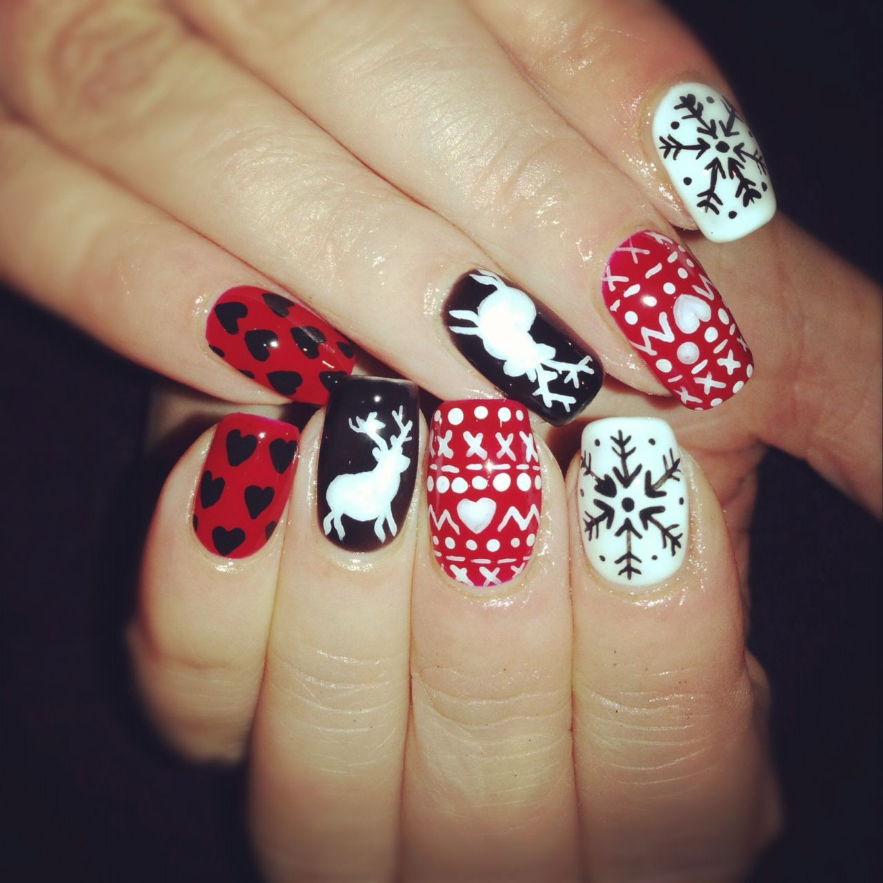 christmas-nails (308) | Uñas decoradas f | Pinterest