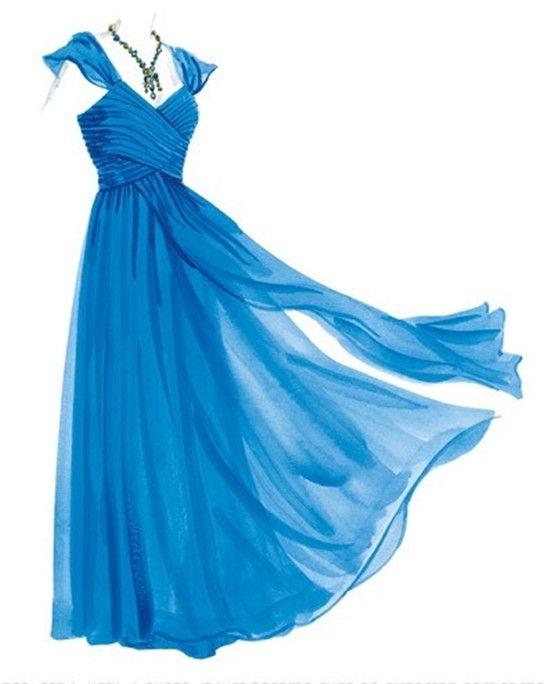 blue grecian dresses design