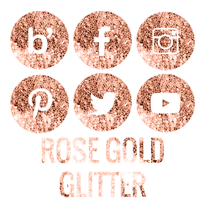Autumn Tones Social Media Icon Pack Gold Glitter Logo Rose Gold Glitter Social Media Icons