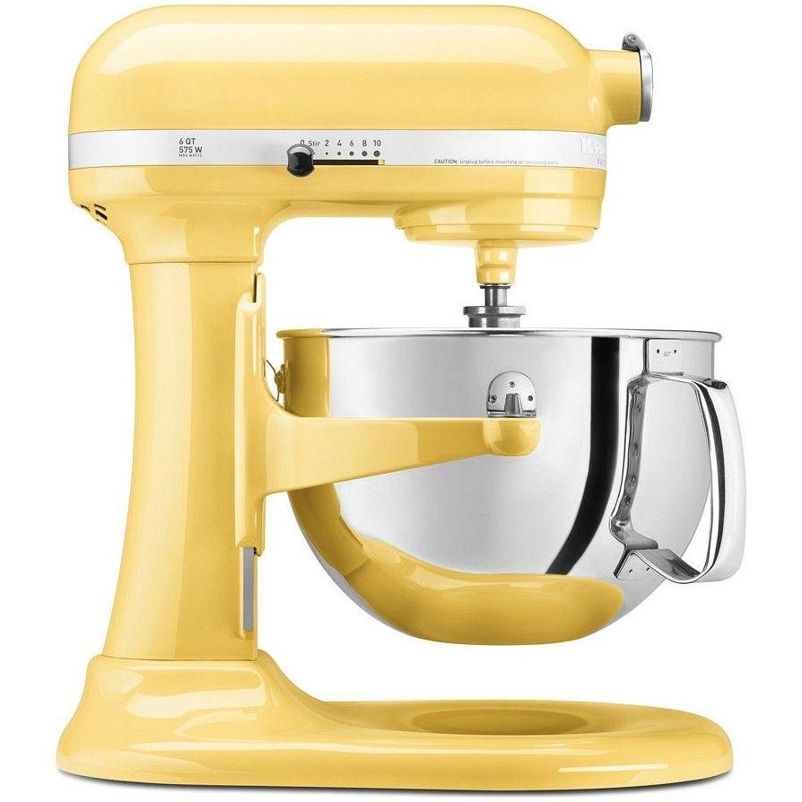 Kitchen Aid 6 Quart Pro 600 Mixer Majestic Yellow Kp26m1xmy Kitchenaid Professional Kitchen Aid Kitchenaid Stand Mixer