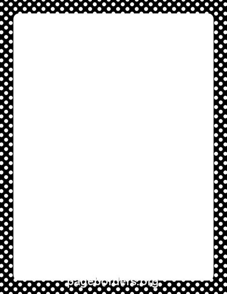 Black and White Polka Dot Border | Education | Pinterest ...