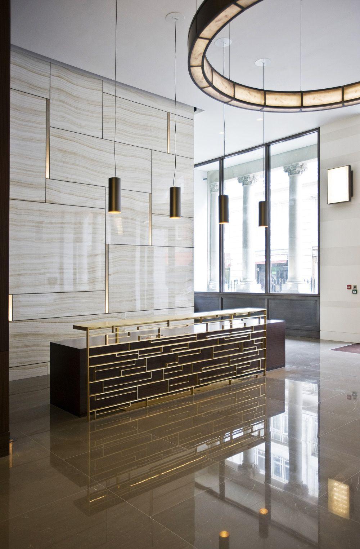 Reception Desk Metal Brass Google Search Lobby Design