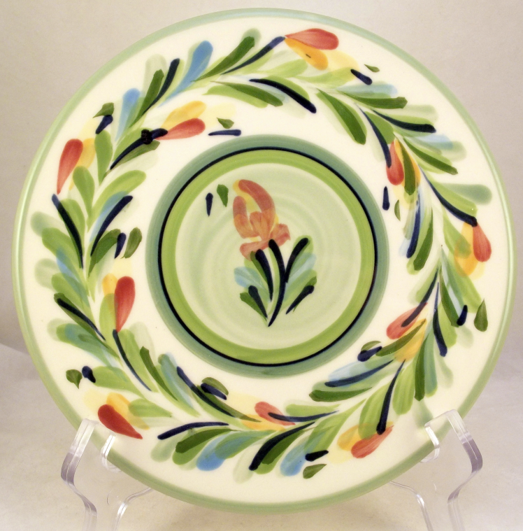 Gail Pittman Provence Garland Ceramic Round Trivet Hot Plate