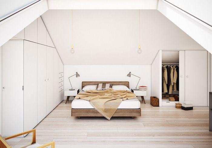 möbel für dachschrägen schlafzimmer auf dem dachgeschoss