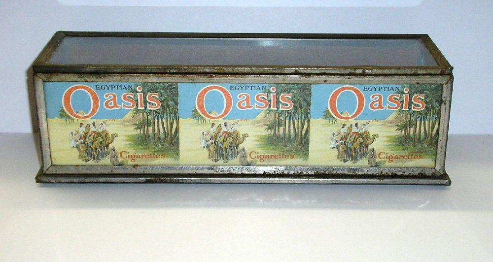 Antique Circa 1910-1920 Egyptian Oasis Cigarettes Store Countertop Display