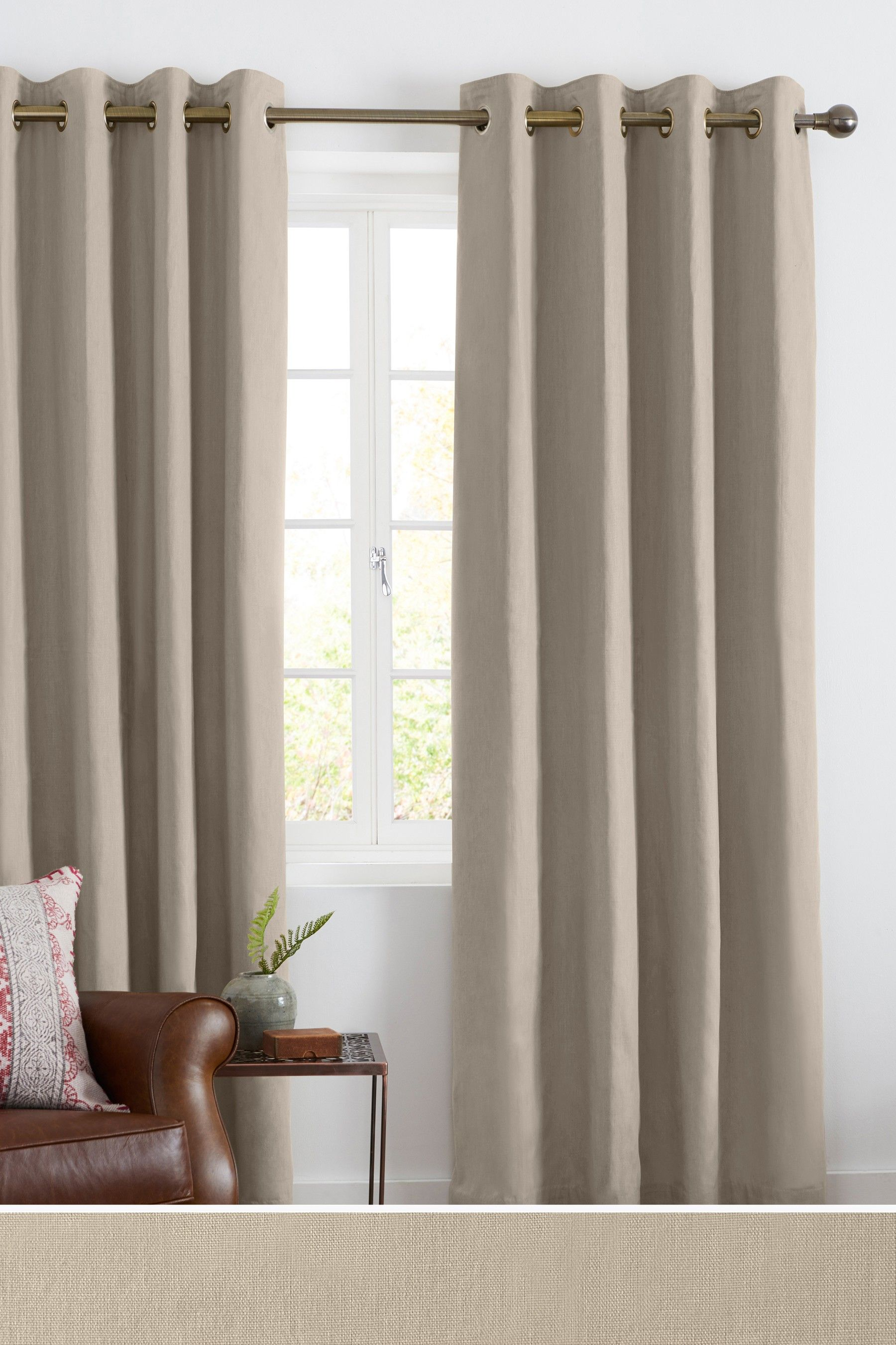 Next Cotton Eyelet Lined Curtains Natural Lined Curtains Curtains