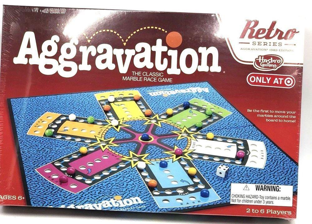 Hasbro Retro 1989 Edition Series Board Game Aggravation