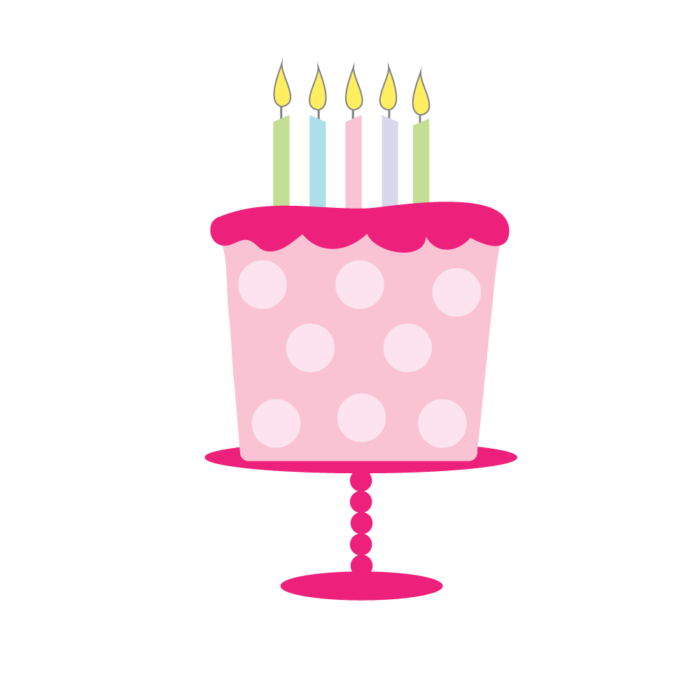 free birthday cake clipart for craft projects websites scrapbooking  [ 1000 x 1000 Pixel ]
