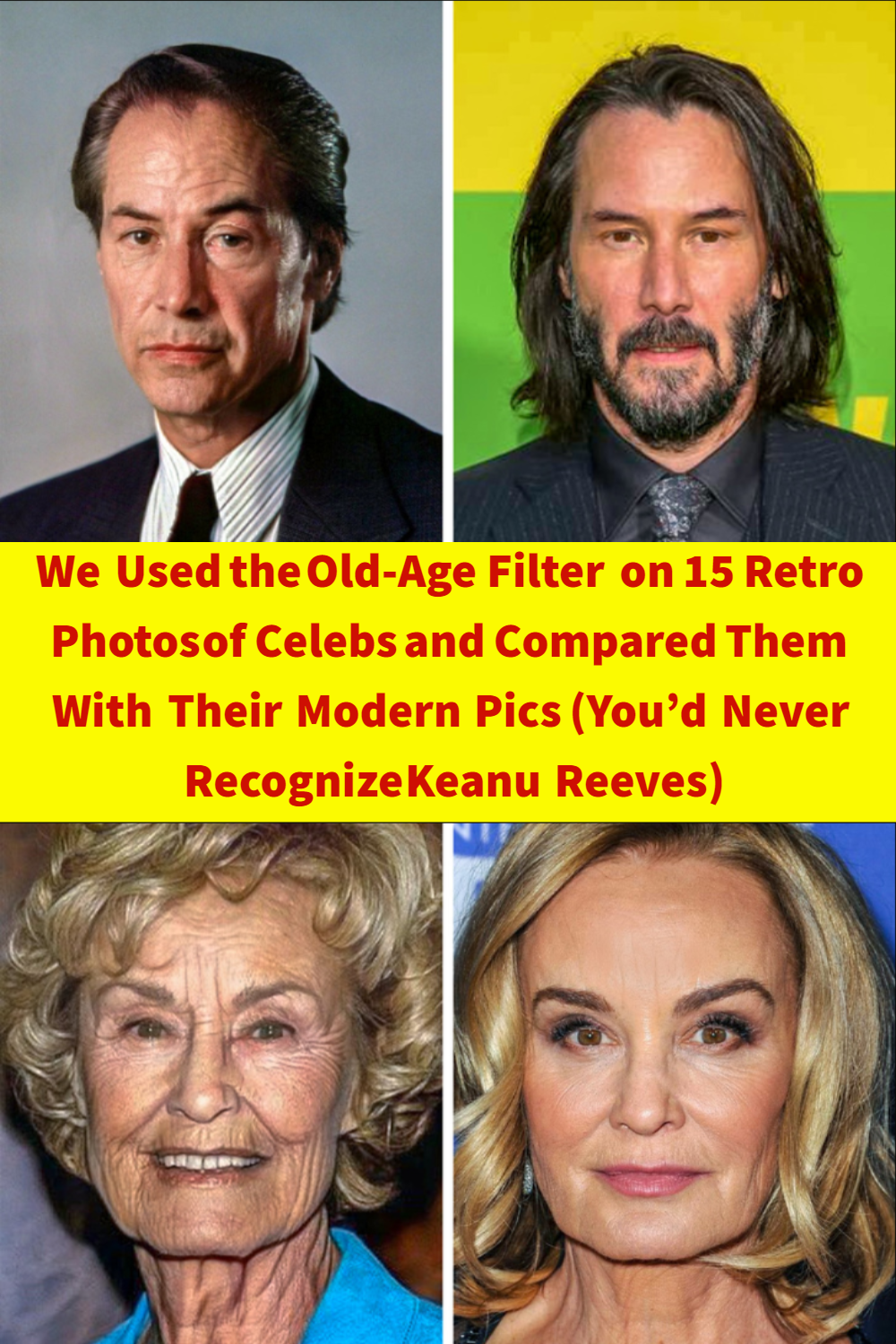We Used the OldAge Filter on 15 Retro Photos of Celebs