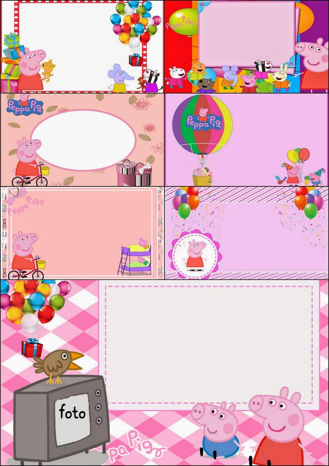 Peppa Pig: Free Printable Invitations, Labels or Cards. | keretek ...