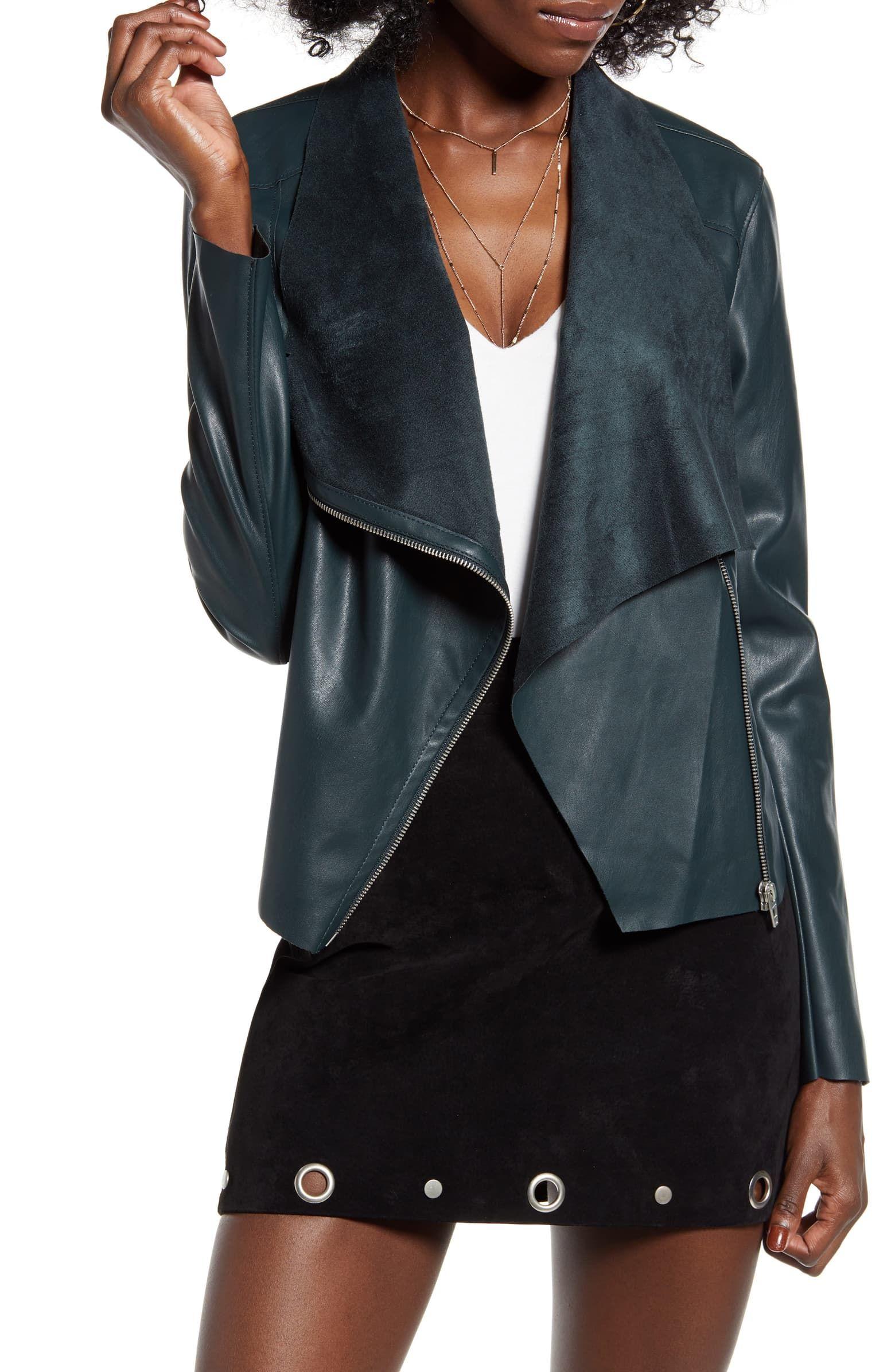 BlankNYC draped jacket Nordstrom Blanknyc faux leather