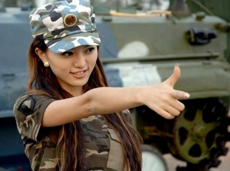 Chinese girl army