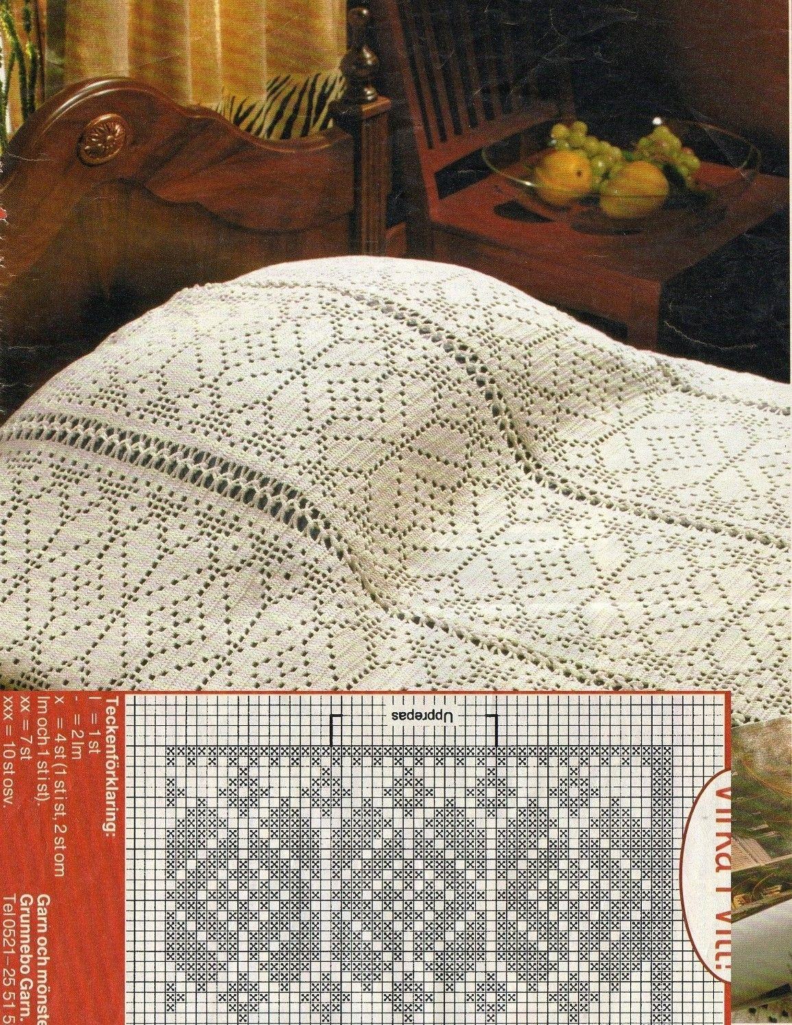 Crochet filet bedspread with diagram crochet filet pinterest crochet filet bedspread with diagram ccuart Gallery