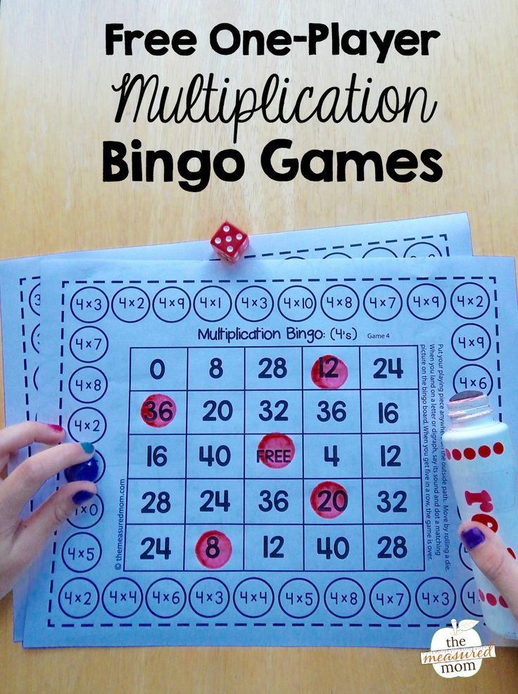 Free single-player multiplication bingo games | Bingo games ...
